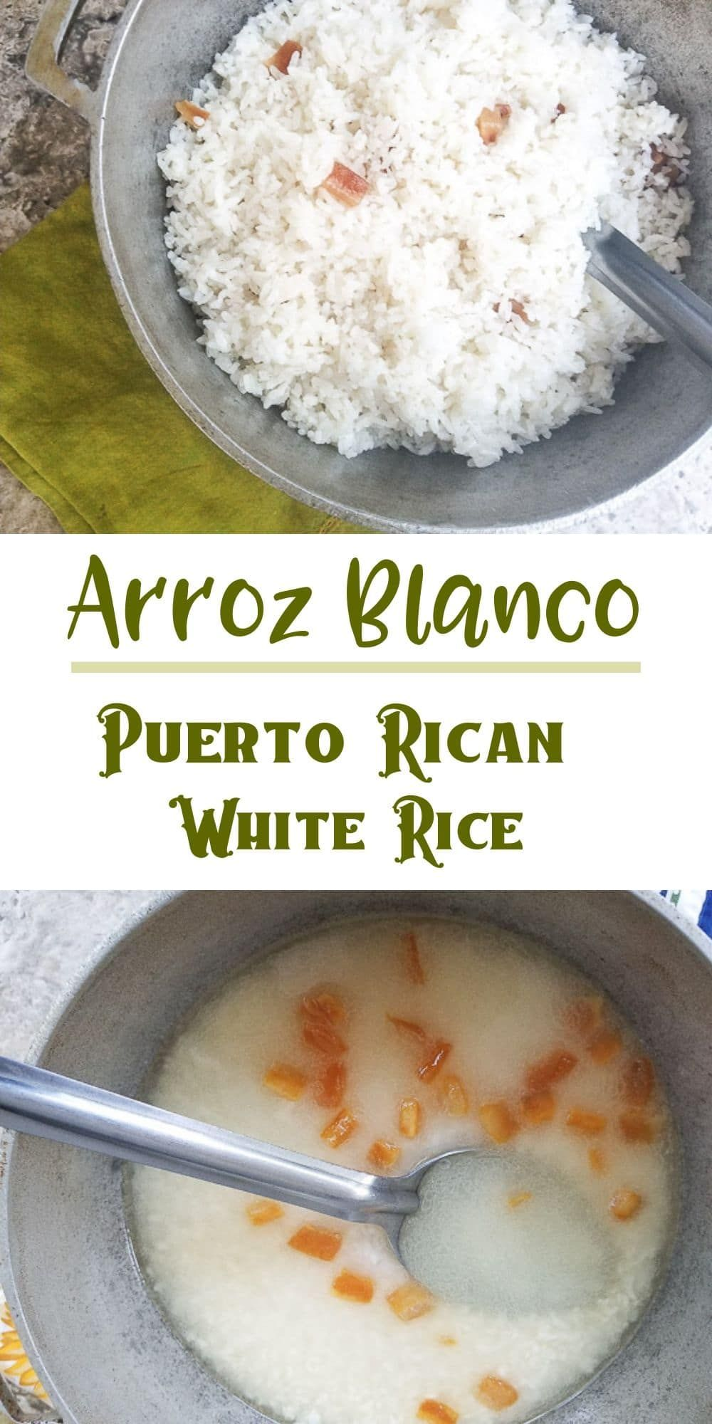 Arroz Blanco (Puerto Rican White Rice) #whitericerecipes
