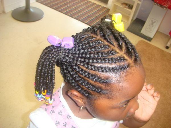 2 Ponytails Natural Hair Braids Kids Hairstyles