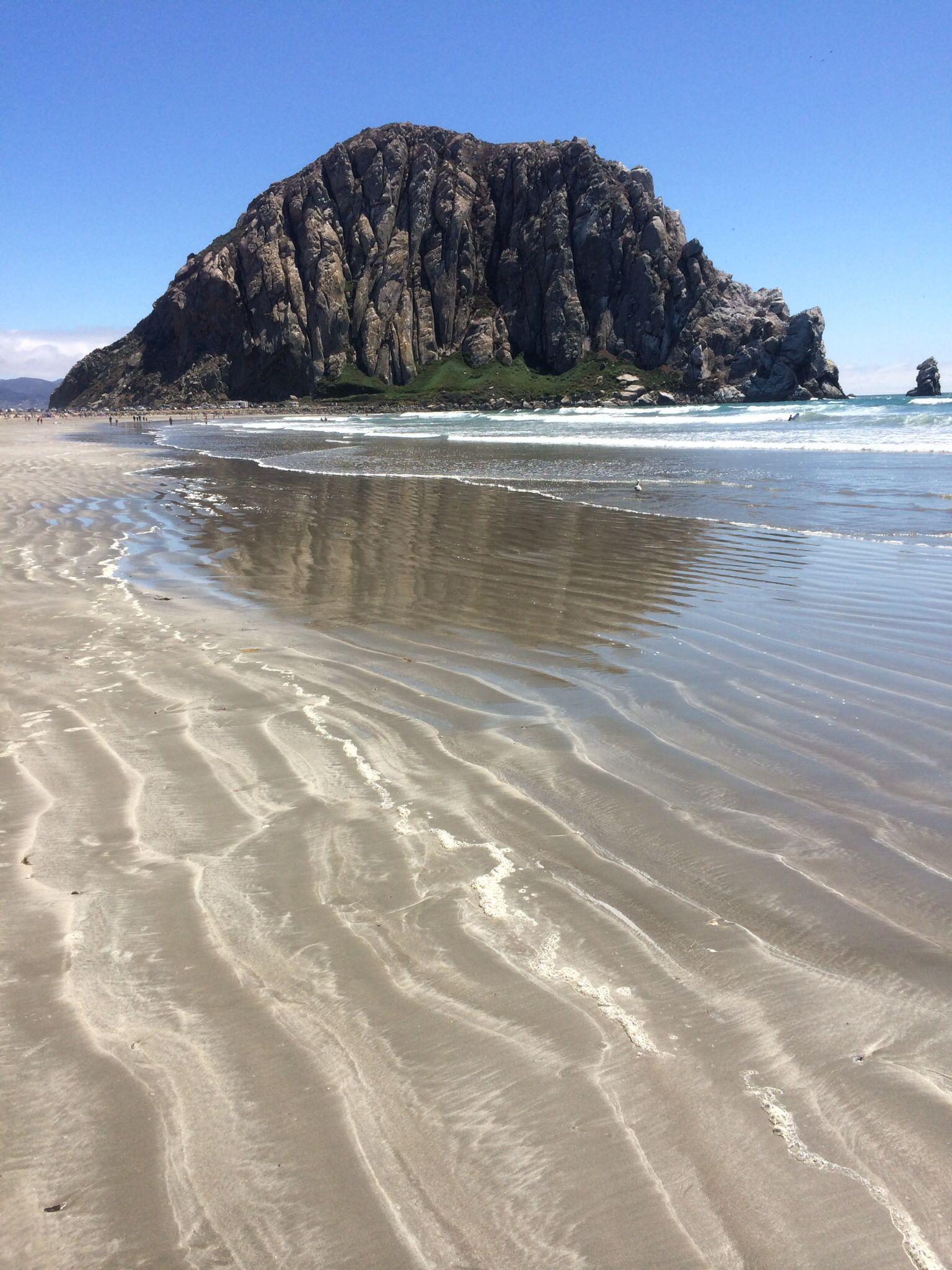 Morro Rock In Bay California
