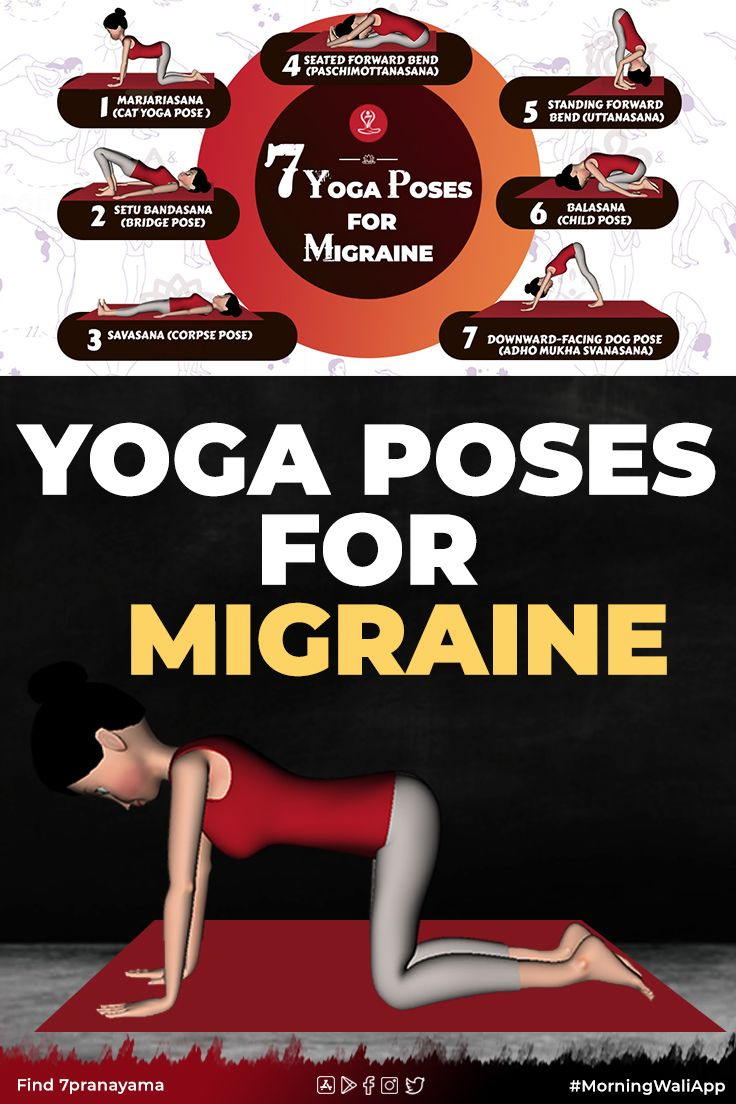 Yoga Poses For Migraine in 2020   Learn yoga poses, Yoga ...
