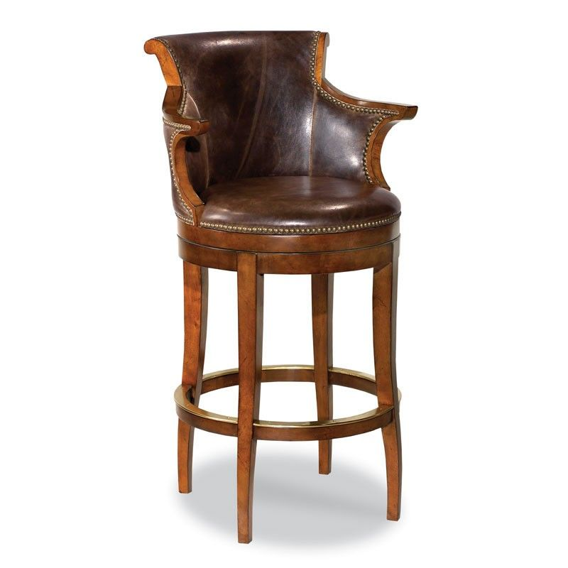 Swivel Leather Bar Stool Irish 31 Pinterest Bar