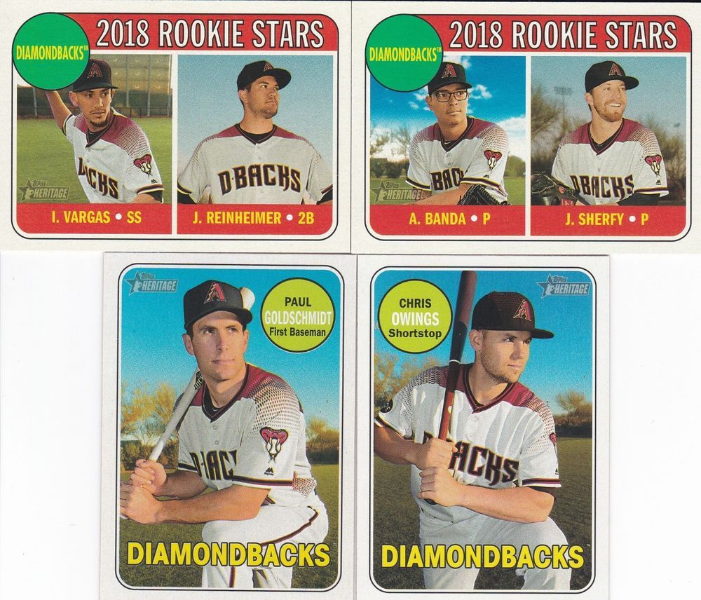 2018 Topps Heritage Baseball Arizona Diamondbacks 4 Sports