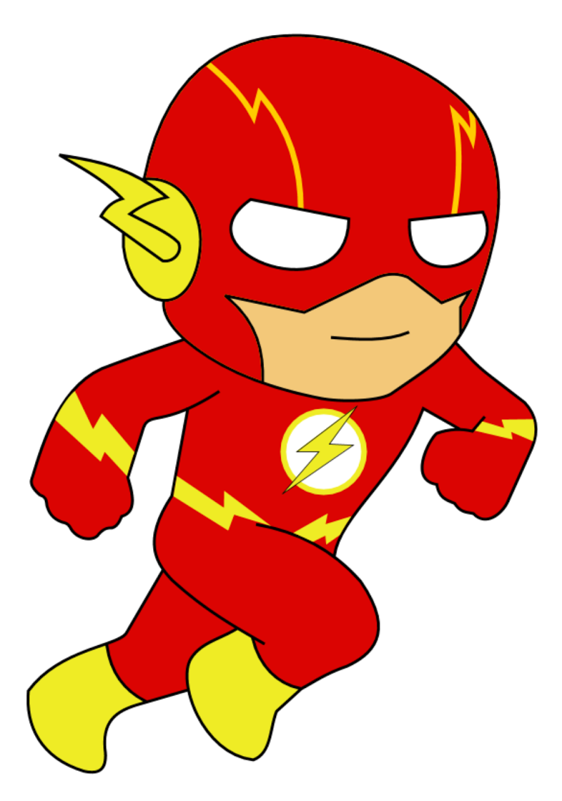 This is a graphic of Soft Flash Superhero Images