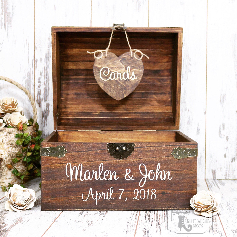 Personalized Wedding Card Box Wedding Card Holder Wedding