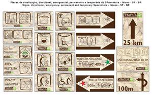Placas de sinalização SpaVentura.