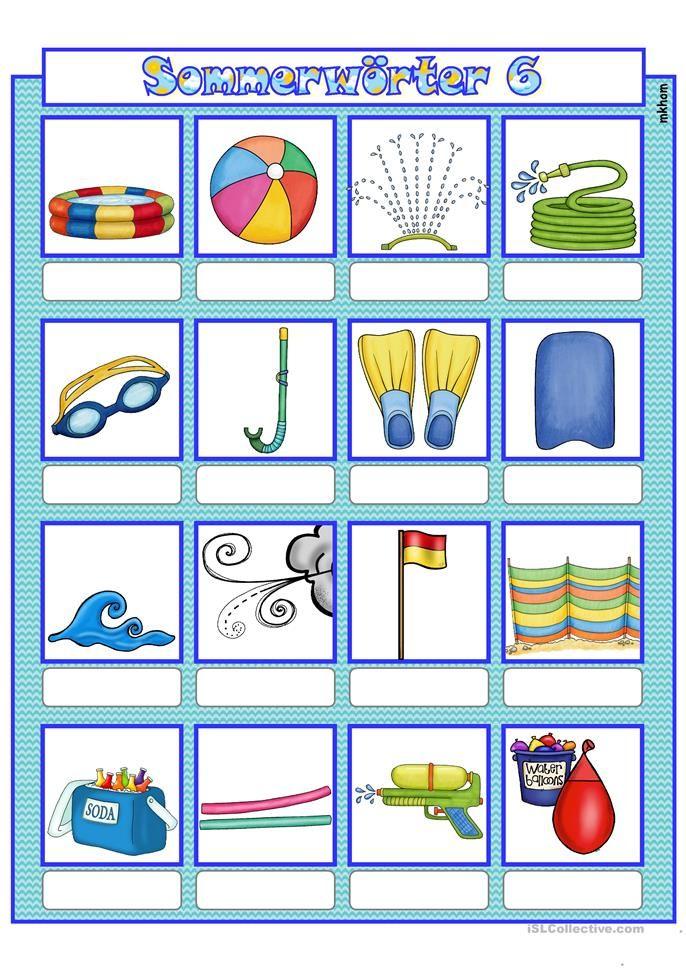 Sommer 6 _ Bildwörterbuch + AB + sw-Version (korrigiert)   Deutsch ...