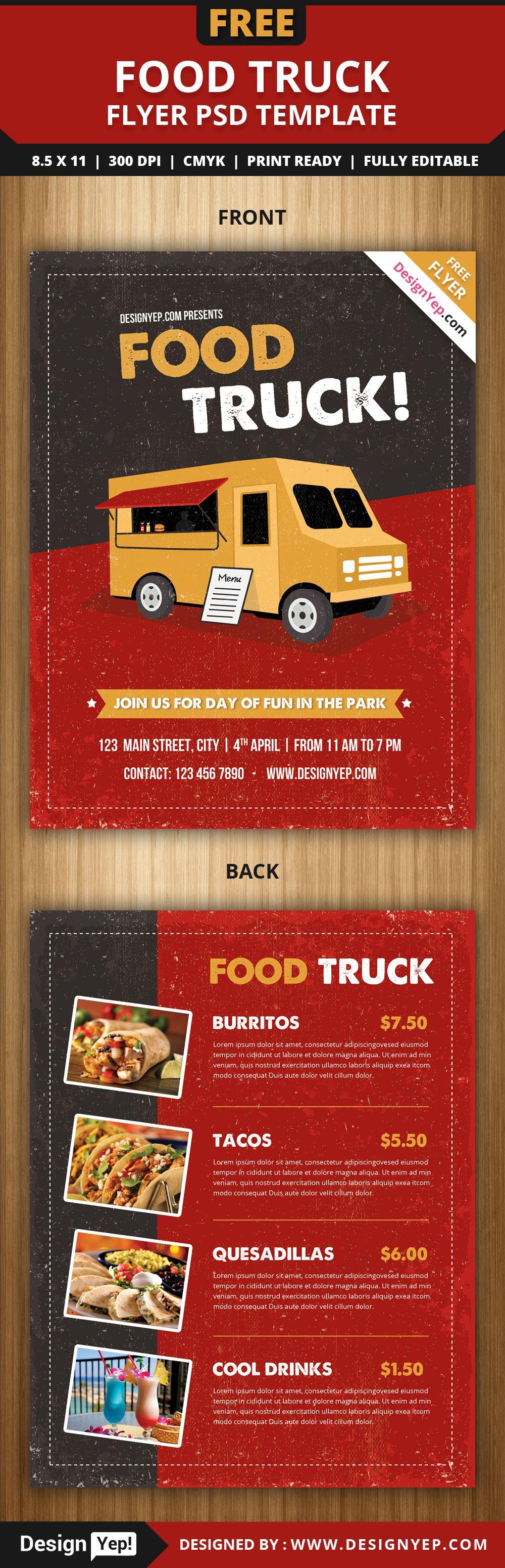 free food truck flyer psd template 3131 designyep free flyers