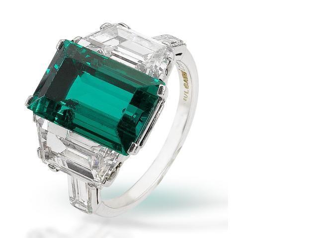 a fine emerald and diamond ring by bulgari