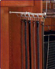 Closetmaid 8053 Closet Tie Belt Rack Chrome Amazon Home Kitchen Pants Rack Rev A Shelf Scarf Organization