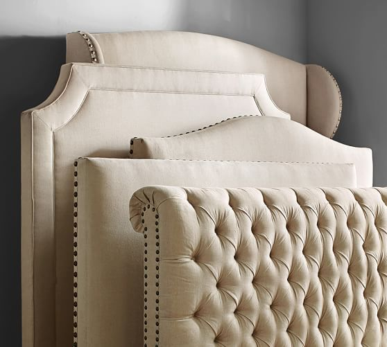 Chesterfield Upholstered Headboard U0026 Storage Platform Bed | Pottery Barn