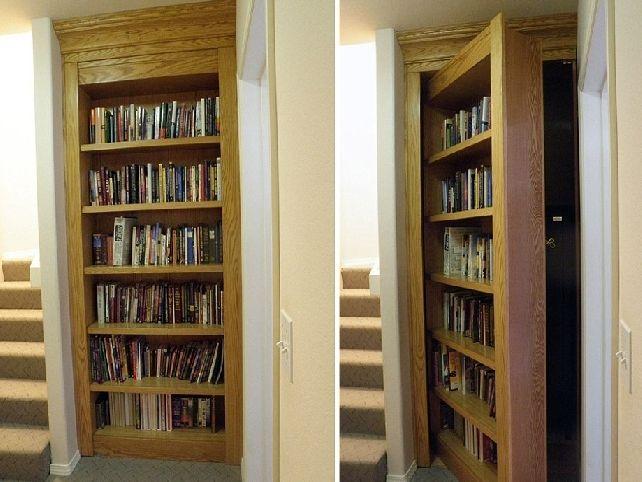 Hidden Gun Cabinet Bookcase Plans I Ve Got Wood Pinterest Cabinets And