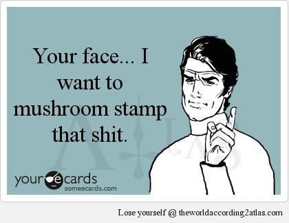 Atlas Ecard Mushroom Stamp