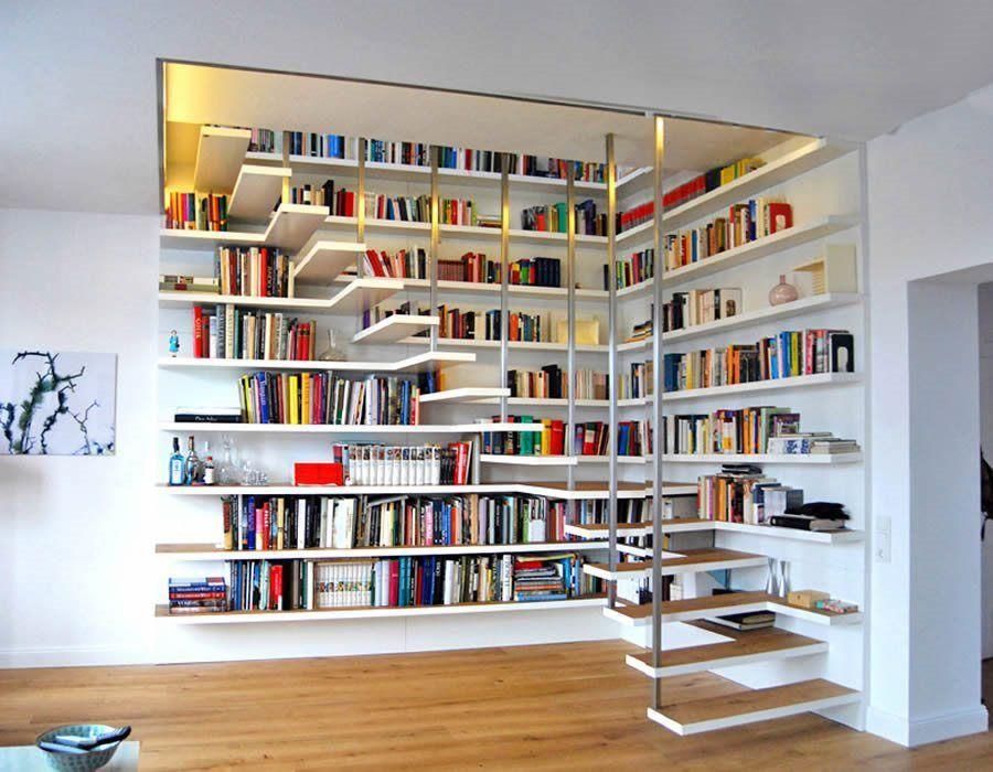 Merdiven Kitaplık Tasarımları #Treppe wohnzimmer #cuisinedintérieurcontemporain