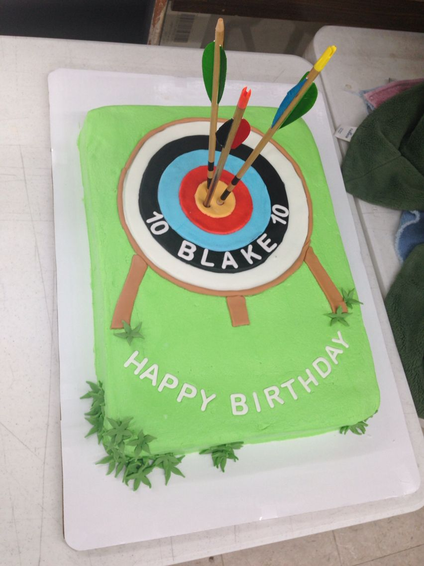 Archery Cake With Images Archery Party Archery Birthday