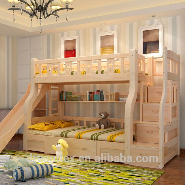 Source Hot Sale New Design Solid Wood Bunk Bed For Kid Bed