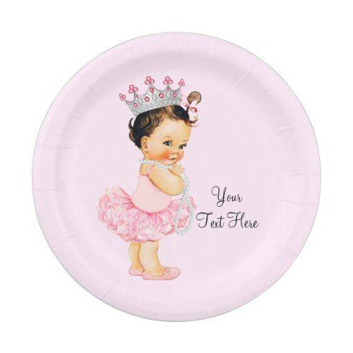 Vintage Princess Ballerina Tutu Pearls Baby Shower Paper Plate  sc 1 st  Pinterest & Vintage Princess Ballerina Tutu Pearls Baby Shower Paper Plate ...