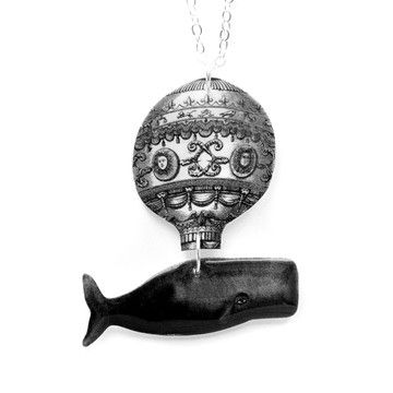 The Flying Whale Necklace, $23, now featured on Fab.