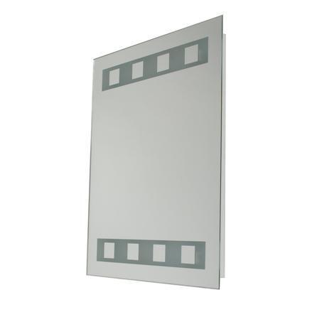Silver Light Up Bathroom Mirror