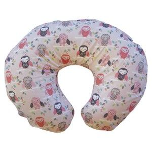 Boppy Bare Naked Pillow With Slipcover Pink Owls Baby