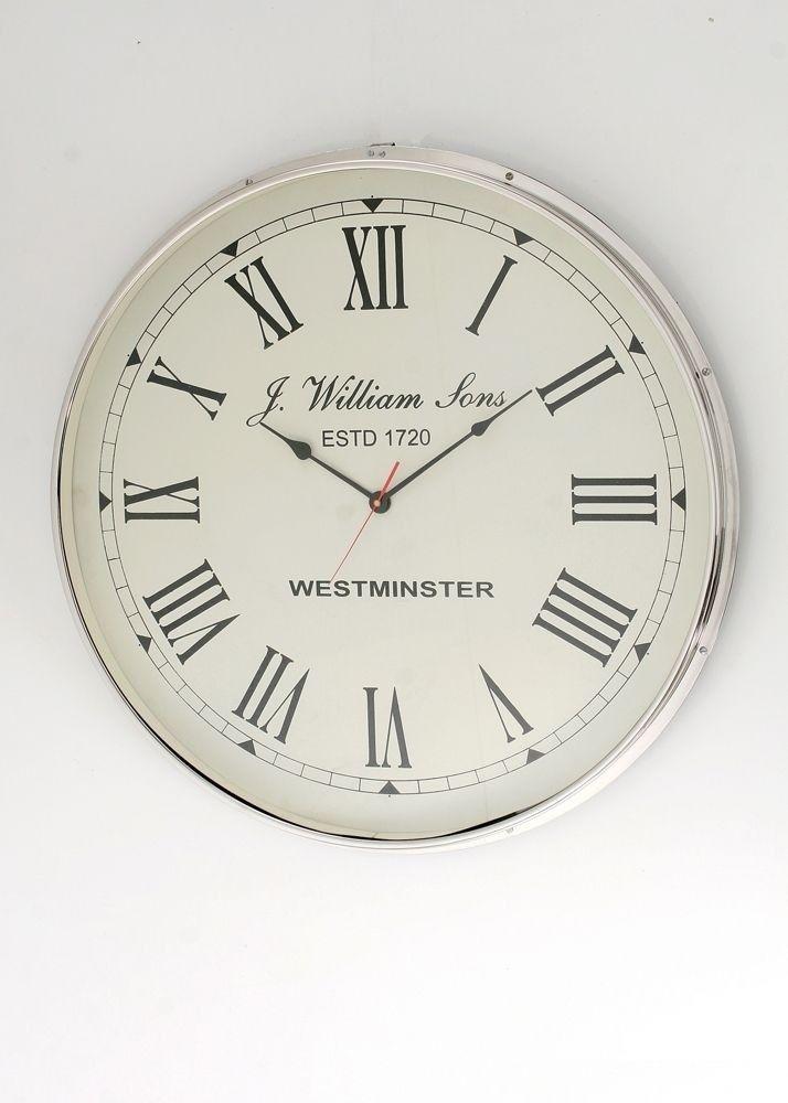 Wanduhr Clondalkin Designer Uhr aus Stahl 9473. Buy now at https://www.moebel-wohnbar.de/wanduhr-clondalkin-designer-uhr-aus-stahl-im-retro-design-9473.html