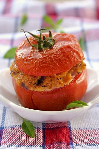 Stuffed Tomatoes. Reminds me of home.