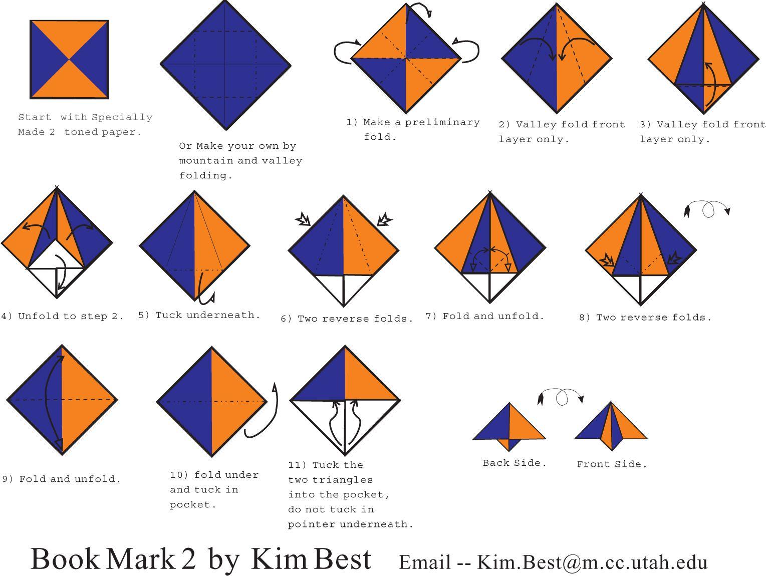 Origami Cat Bookmark Instructions Gallery - Craft Decoration Ideas