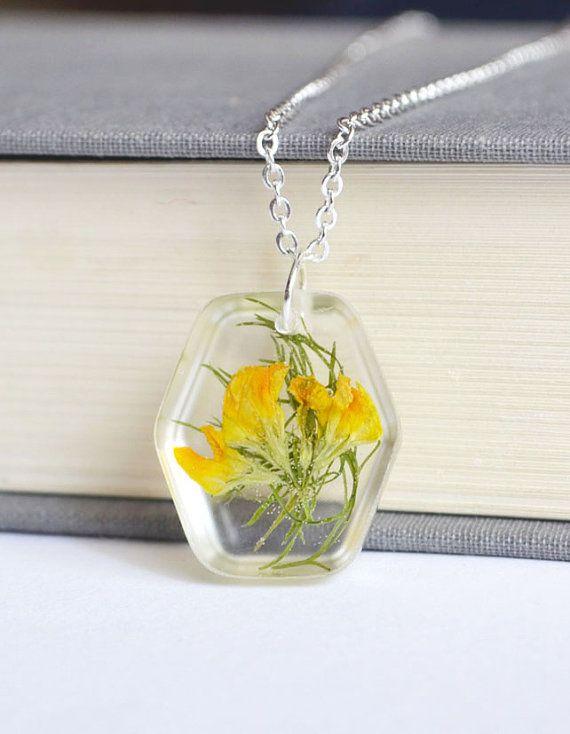 Pressed flower Jewelry  $ 15.00 - SOLD