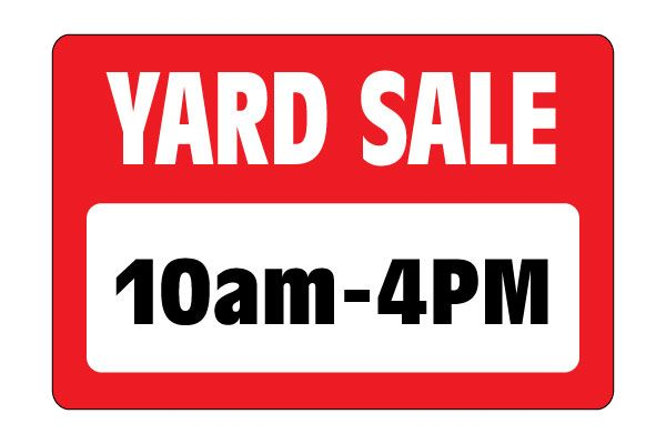 printable yard sale sign 10am to 4pm from free print sign yard