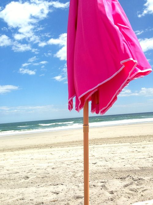 When It Comes To Beach Umbrellas Think Pink
