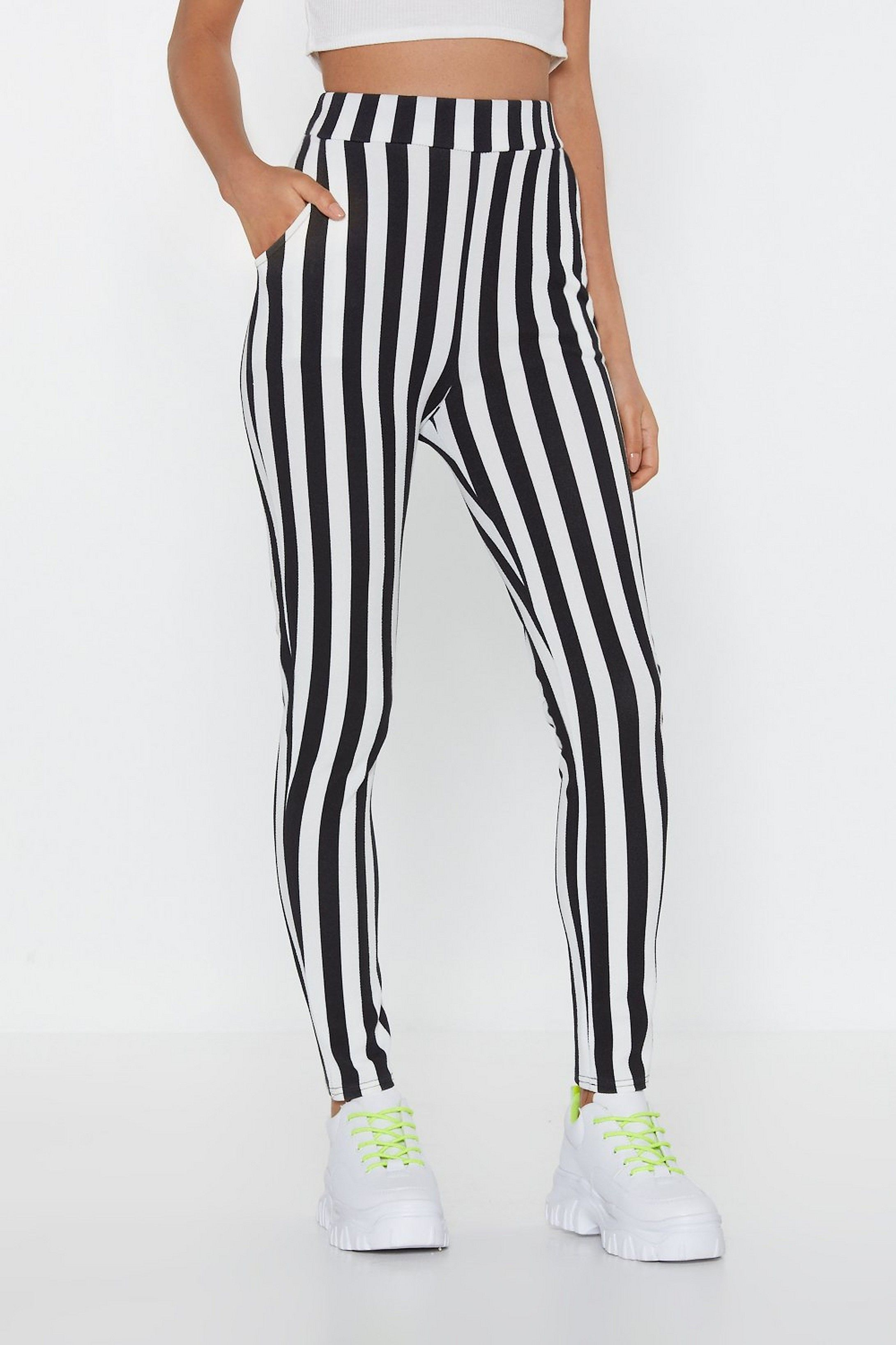 Line Your Pockets Striped Leggings   Shop Clothes at Nasty Gal #stripedleggings