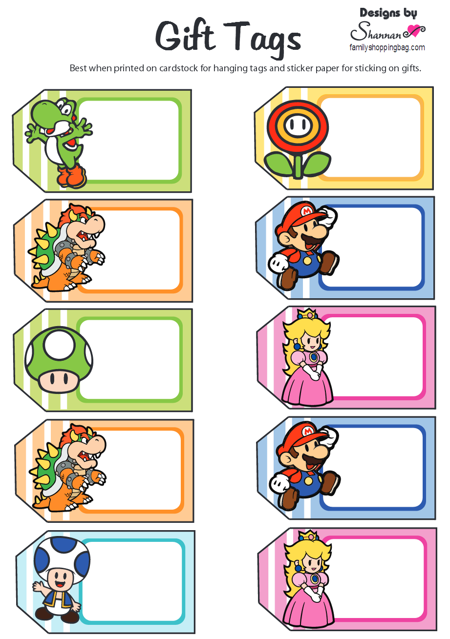 Pin by Crafty Annabelle on Mario Brothers Printables | Pinterest ...
