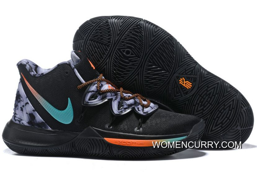 94a90ae5c329 New Release Nike Kyrie 5 Black Blue-Orange-Grey in 2019