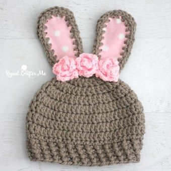Chunky Bunny Crochet Hat