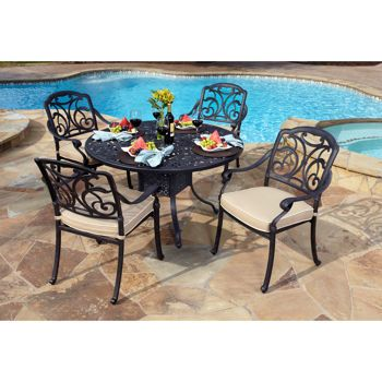 San Paulo 5 Piece Patio Dining Set   Costco.com Like The Stone Floor