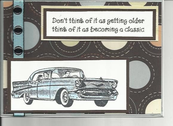 A Classic Car Masculine Birthday Card