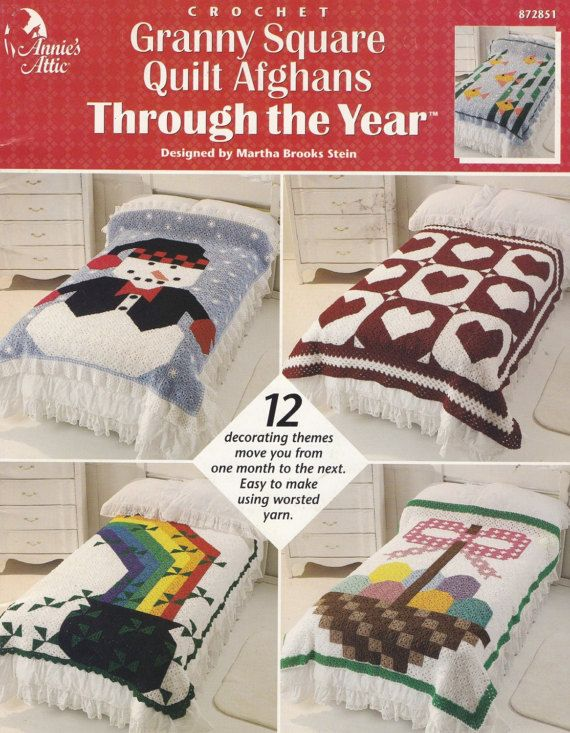 Granny Square Quilt Afghans through the Year by LucyGooseyDolls