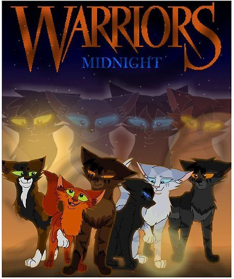 Fake Cover For Midnight Featuring Nightstar Bluestar Deadfoot And Oakheart Looking Down On Tawnypelt Warrior Cats Fan Art Warrior Cats Warrior Cats Books