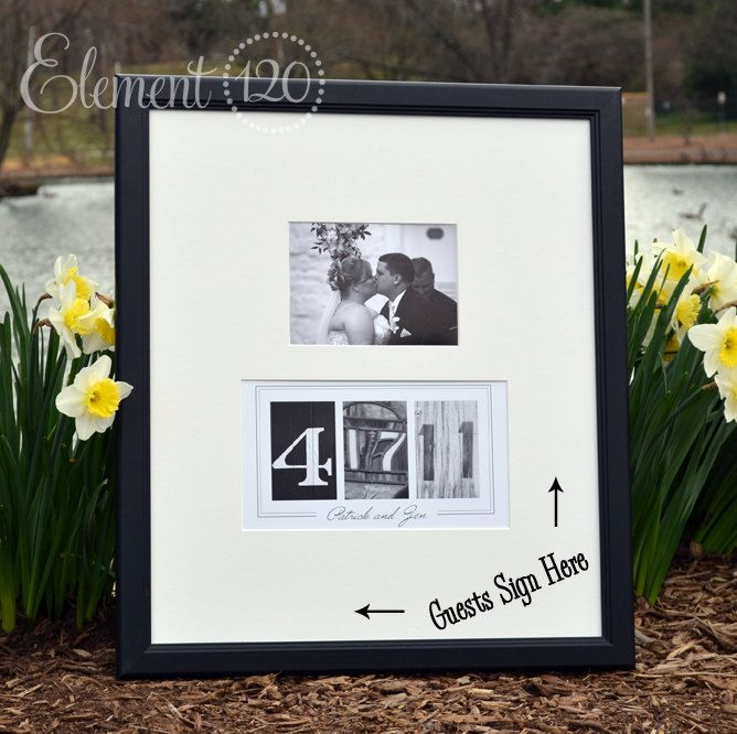 Custom Wedding Guest Book Date Frame Add Your Own Photo After The 104 99