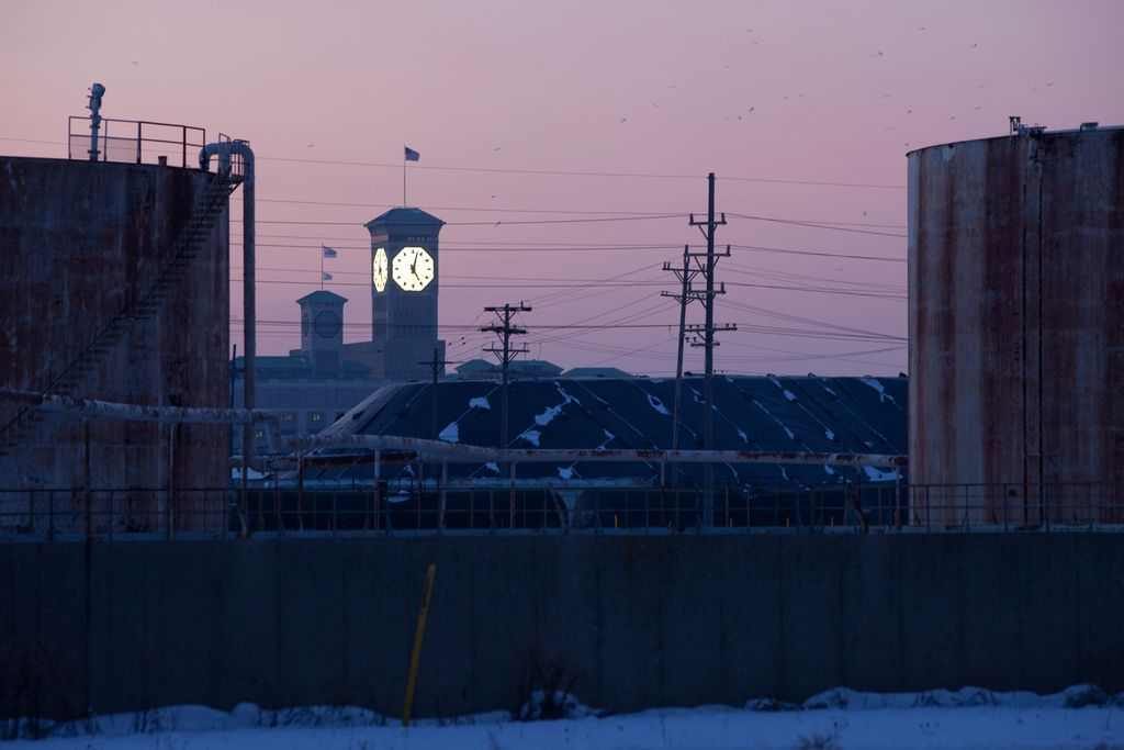 Allen Bradley Clock Tower, Port Of Milwaukee Storage
