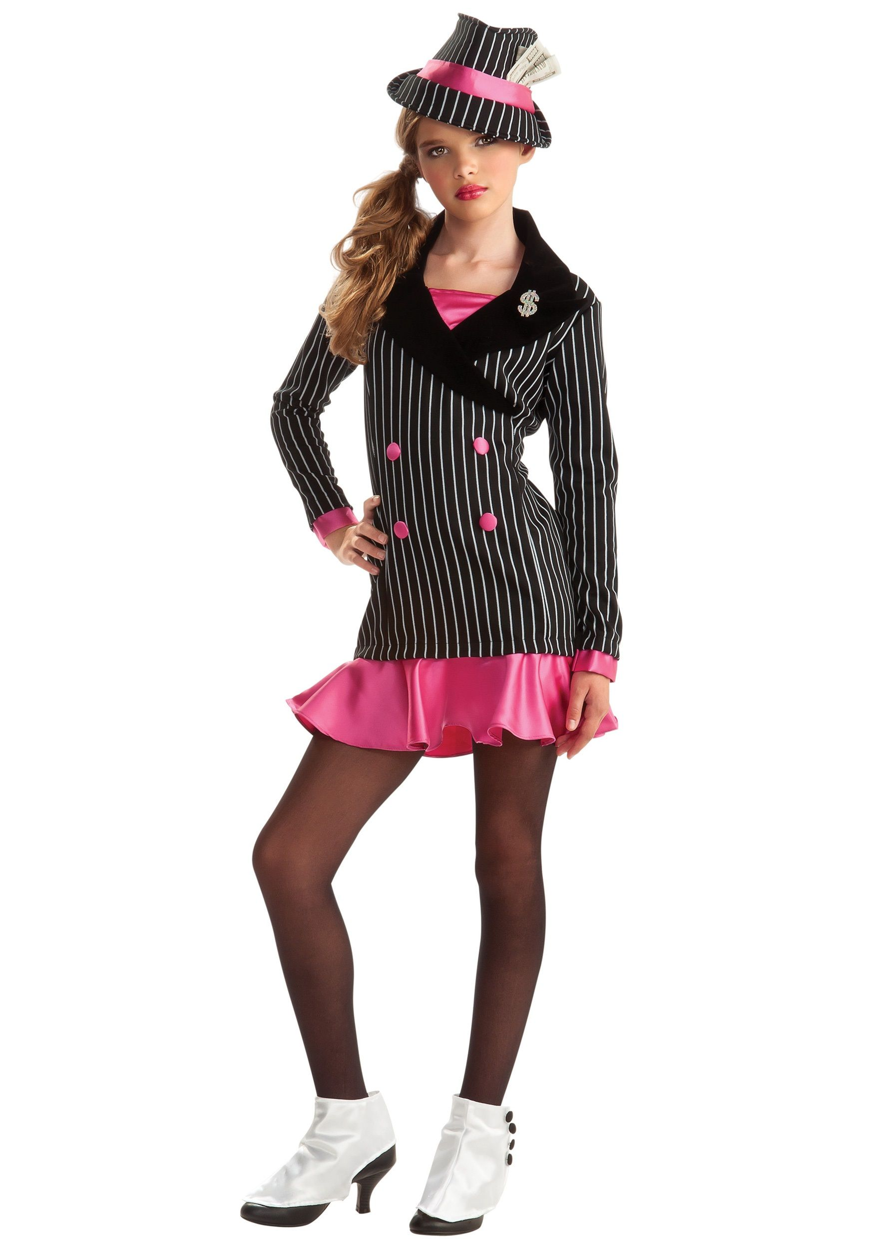 this will be my daughters halloween outfit turn your teen into a mafia boss with this tween gangster girl costume the teen girls gangster costume is a - Halloween Mobster Costumes