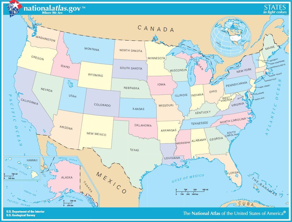 Generalidades Tu Viaje A USA Mapas Pinterest - Mapas usa