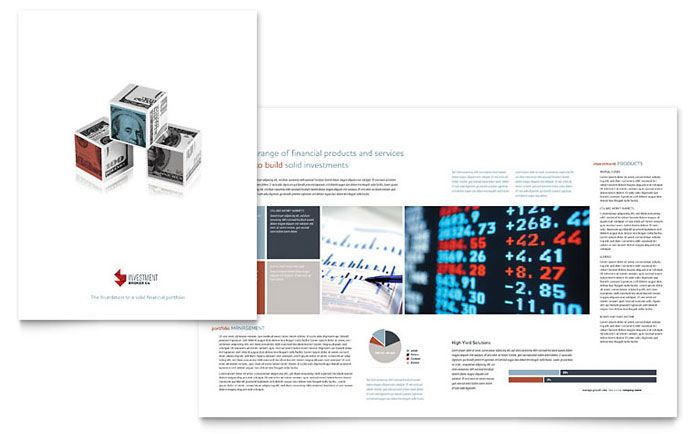 Investment Bank Brochure Design Template By Stocklayouts  Hedge