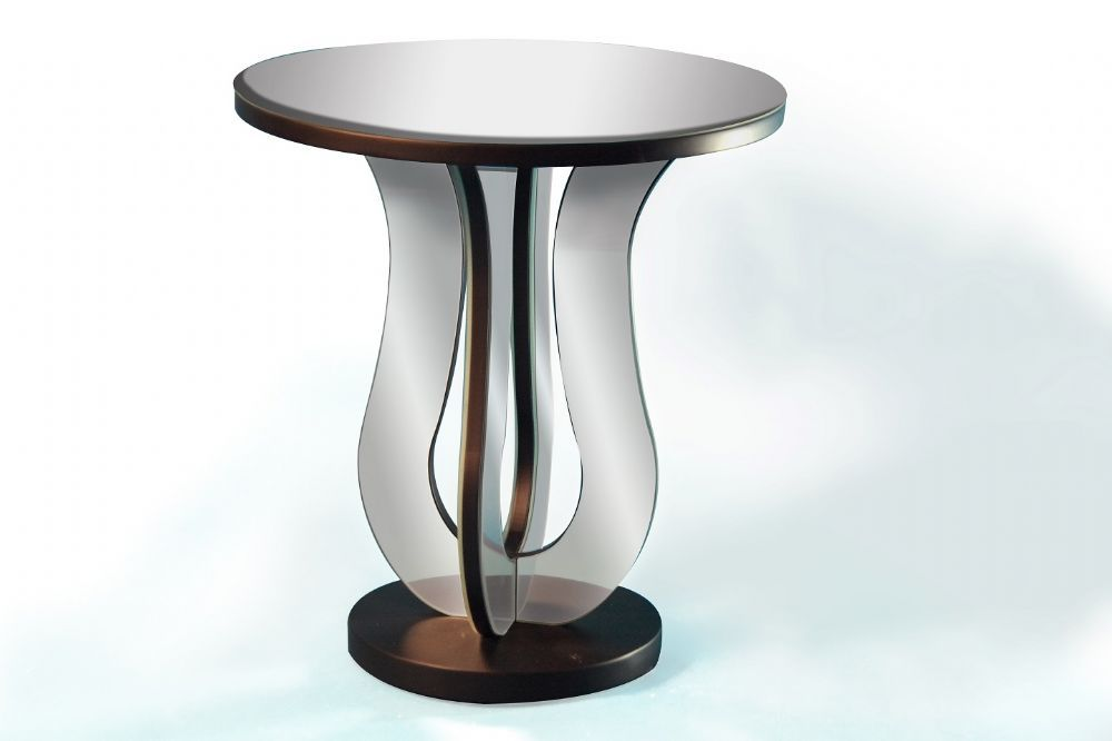 Mirrored lamp table mirror lamp and lamp table mirrored lamp table round mirrored lamp table with black base aloadofball Gallery
