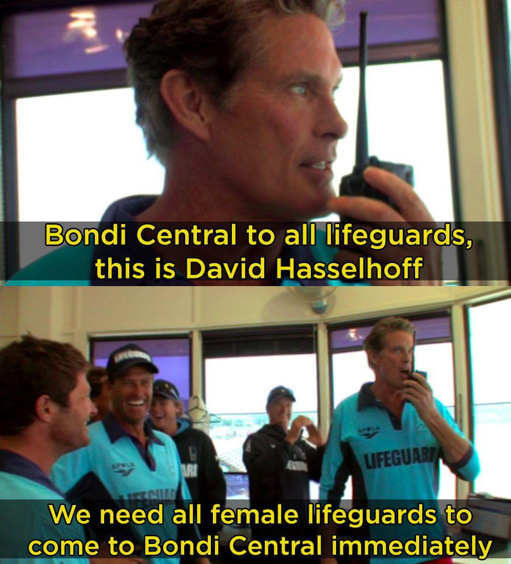 And he, um, helped? Lifeguard, Beach lifeguard, Rescue