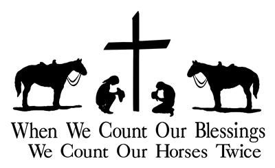 Praying Cowboy  Cowgirl Horse Decal Sticker Truck Truck - Horse decals for trucks