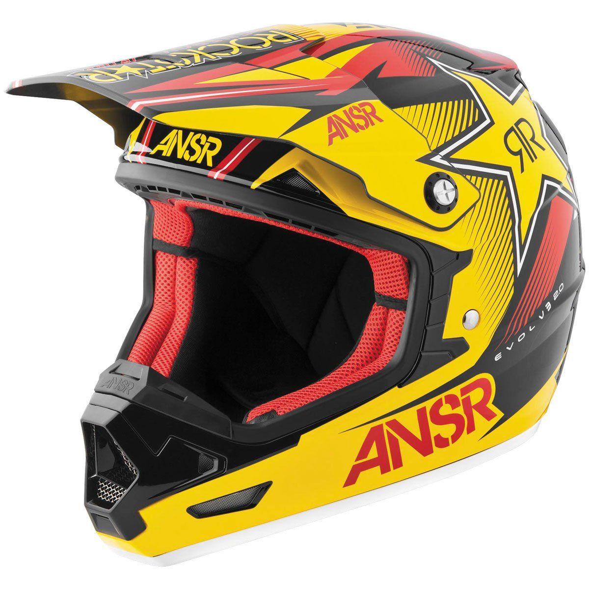 Answer racing rockstar vii menus evolve mx motorcycle helmet