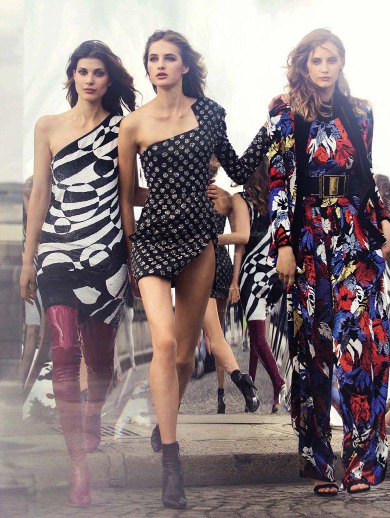 Melina Gesto, Larissa Hofmann & Sanne Vloet for Vogue Spain September 2015   The Fashionography