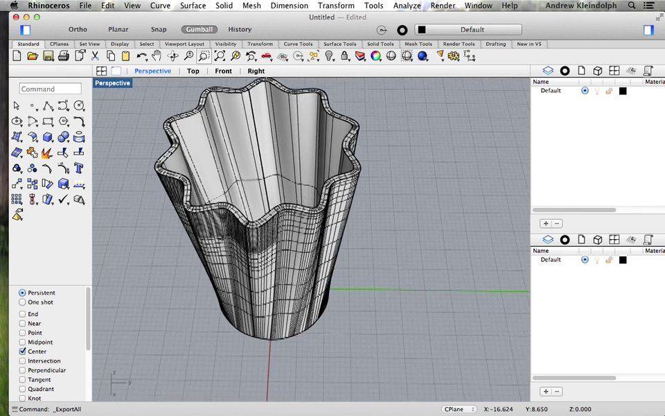 Rhino: Intro to 3D Printable Organic Modeling  Basic
