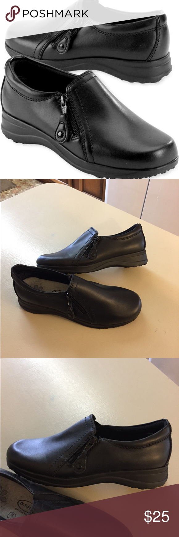 6290faf87dd Dr. Scholl s Marci Gel-Pac Zippered Loafers 7.5W Dr. Scholl s Marco Gel-Pac  Zippered Leather Loafers Pre owned look new Excellent condition Size 7.5W Dr.  ...