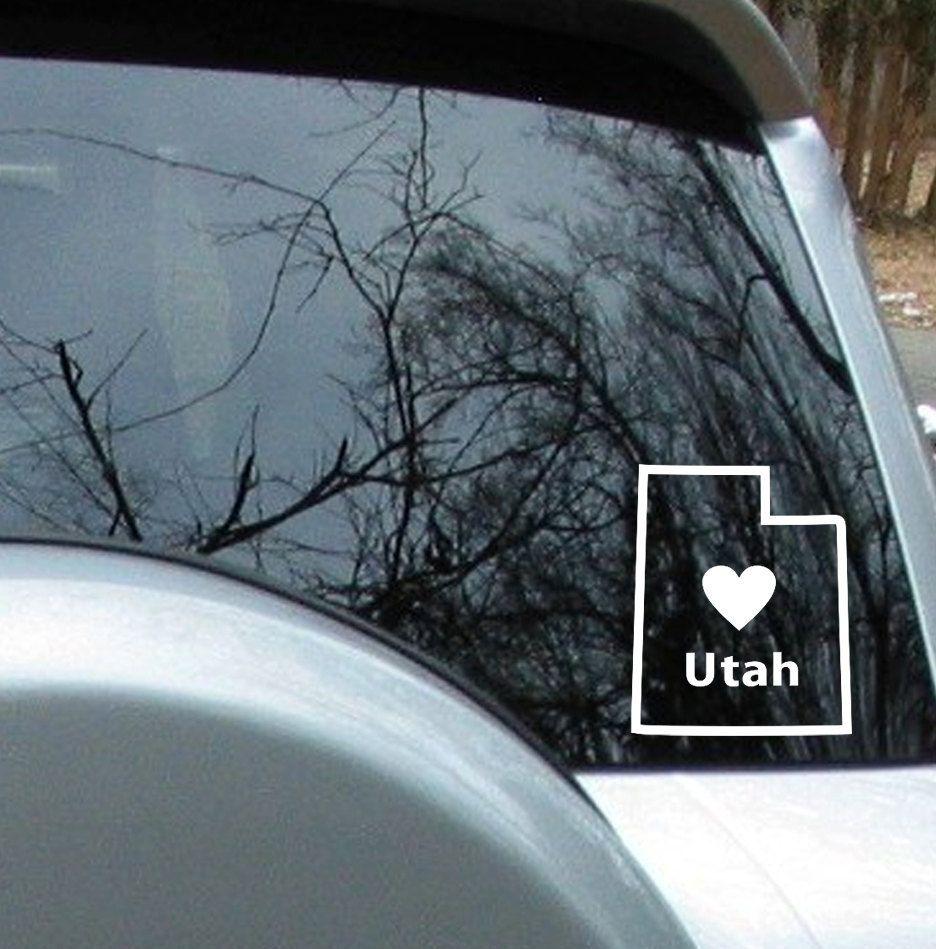 Love Utah State Sticker Car Decal Car Decals Car Stickers Decals [ 949 x 936 Pixel ]
